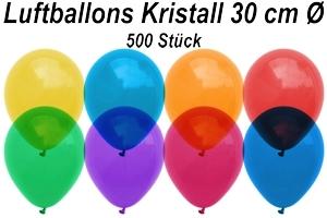 Luftballons Kristall 30 cm - 500 Stück Beutel