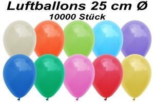 Luftballons 25 cm - 10000 Stück