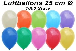 Luftballons 25 cm - 1000 Stück