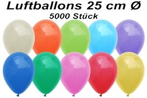 Luftballons 25 cm - 5000 Stück