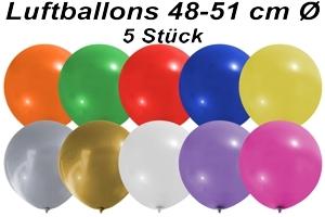 Luftballons 48 cm - 5 Stück Beutel