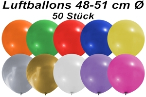 Luftballons 48 cm - 50 Stück Beutel