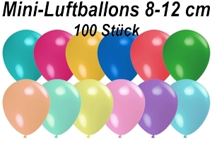"Luftballons Pastell, 8-12 cm 5"", 100 Stück"