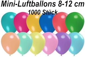 "Luftballons Pastell, 8-12 cm 5"", 1000 Stück"