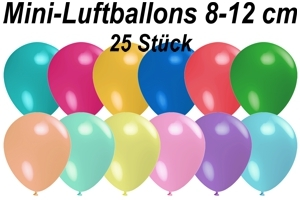 "Luftballons Pastell, 8-12 cm 5"", 25 Stück"