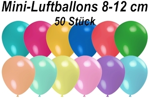 "Luftballons Pastell, 8-12 cm 5"", 50 Stück"