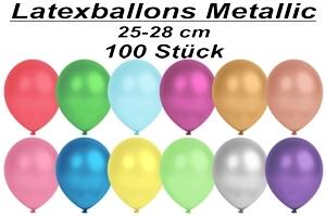 Luftballons Metallic, 25-28 cm - 100 Stück Beutel