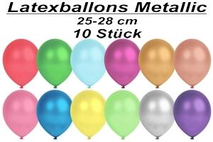 Luftballons Metallic, 25-28 cm - 10 Stück Beutel