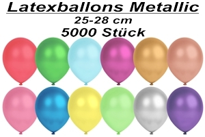 Luftballons Metallic, 25-28 cm - 5000 Stück
