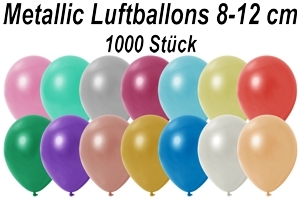 "Luftballons Metallic, 8-12 cm, 5"", 1000 Stück"