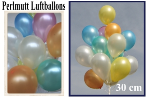 Luftballons, Rundform, 30 cm, Perlmutt