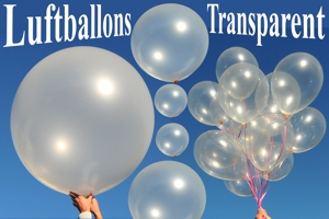 Latexballons Transparent
