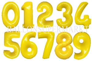 Große Zahlen-Luftballons Gelb