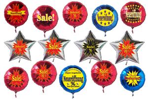 Werbeartikel Luftballons aus Folie, Helium