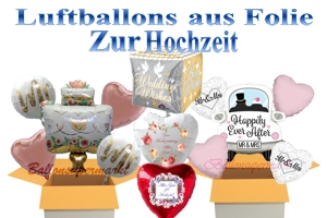 Luftballons aus Folie zur Hochzeit