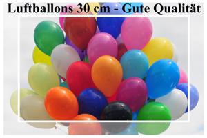 Luftballons, Rundform, 30 cm - Gute Qualität