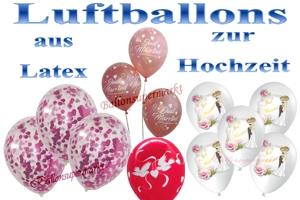 Luftballons aus Latex zur Hochzeit