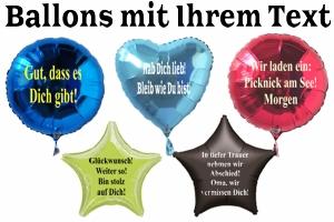 Luftballons mit Ihrem Text