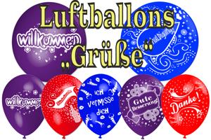 Luftballons mit deutschen Motiven, Grüße, Verschiedene Anlässe