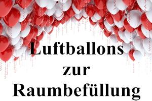 Luftballons zur Raumbefüllung