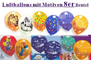 Luftballons, Motiv-Bedruckt, 25 cm