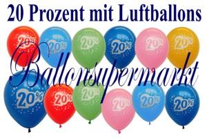 Luftballons 20 Prozent