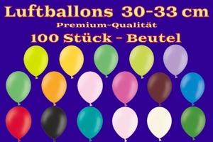 Luftballons 30-33 cm - Latexballons in Premium-Qualität - 100 Stück Beutel