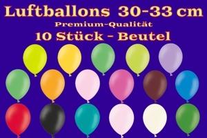 Luftballons 30-33 cm - Latexballons in Premium-Qualität - 10 Stück Beutel