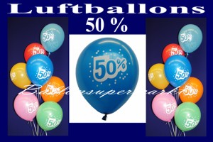 Luftballons 50 Prozent