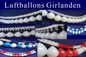 Luftballons Girlanden - Hochzeitsgirlanden