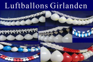 Luftballons mit Girlanden