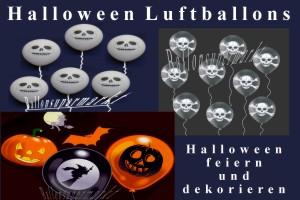 Luftballons, Motiv-Bedruckt, Halloween