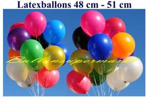 Luftballons, Rundform, 48-51 cm