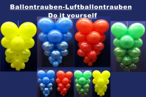 Luftballons Trauben Ballontrauben
