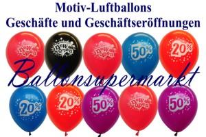 Luftballons, Motiv-Bedruckt, Werbeaktionen, Geschäftseröffnung