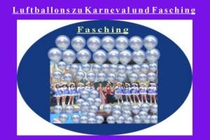 Luftballons zu Karneval und Fasching