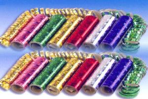 Luftschlangen Metallic-Folie, Holografisch