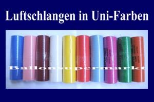 Luftschlangen Uni-Farben
