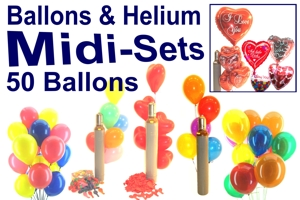 Luftballons Helium Midi Sets