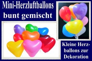Herzluftballons-Mini-Bunt-Gemischt