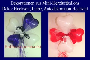 Mini-Herzluftballons Dekorationen