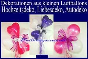 Mini-Luftballons-Dekorationen