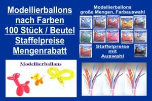 Luftballons, Modellierballons, Farbauswahl