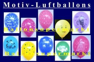 Luftballons, Motiv-Bedruckt, 10er Tüten