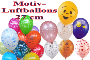 Luftballons, Motiv-Bedruckt, 27 cm