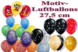 Luftballons, Motiv-Bedruckt, 27,5 cm