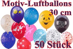 Luftballons, Motiv-Bedruckt, 30 cm