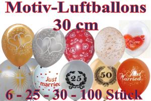 Luftballons Latexballons: Motive, 30 cm Ø
