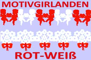 Motivgirlanden Rot-Weiß - Hochzeitsdekoration
