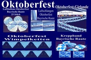 Oktoberfest Dekoration Bayrische Rauten